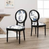 Hiro Traditional Fabric Dining Chairs by Christopher Knight Home - N/A