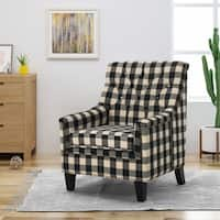 Jaclyn Fabric Tufted Club Chair by Christopher Knight Home