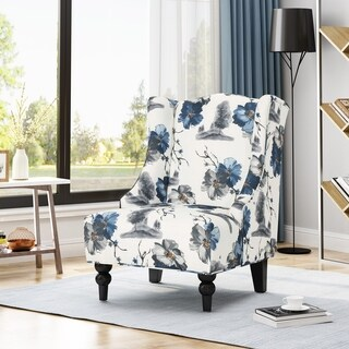 Toddman High-Back Fabric Club Chair by Christopher Knight Home