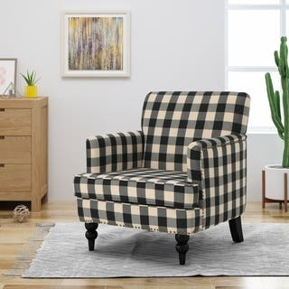 Harrison Tufted Fabric Club Chair By Christopher Knight Home