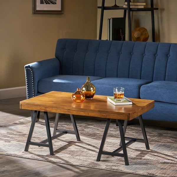 Hunter Solid Wood Farmhouse Coffee Table by Christopher Knight Home