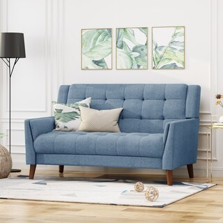 Candace Mid Century Modern Fabric Loveseat by Christopher Knight Home - N/A