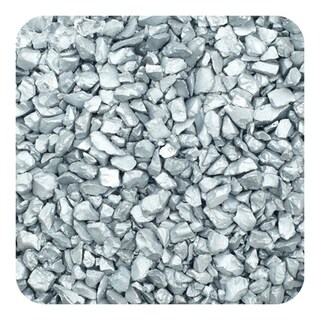 Sandtastik Colored Ice Real Glass Gems, Scatters 20 lb (9.09 kg) Box, 1.5 - 4 mm - Silver