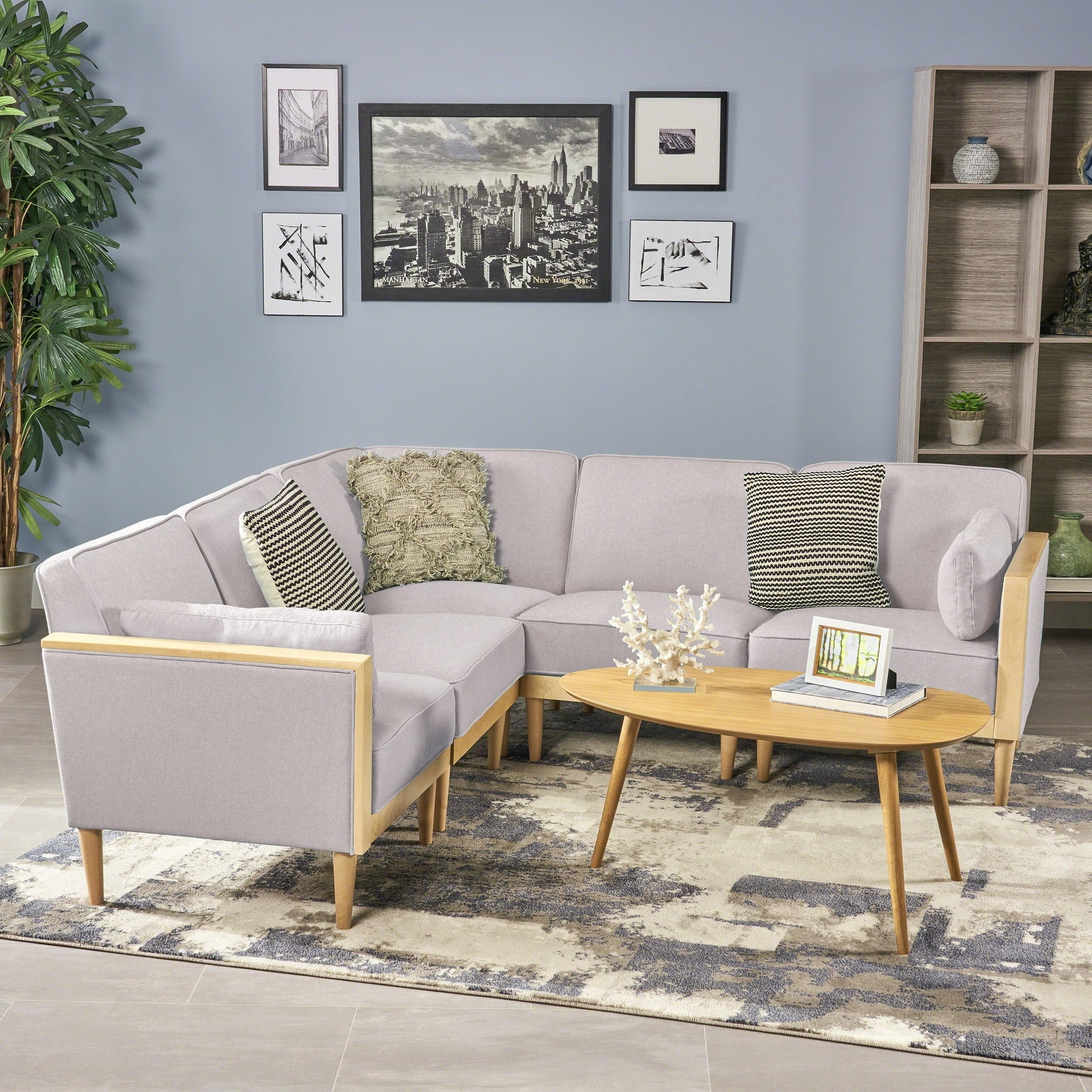 Pembroke 5 Piece Contemporary Sectional Sofa Set By Christopher Knight Home
