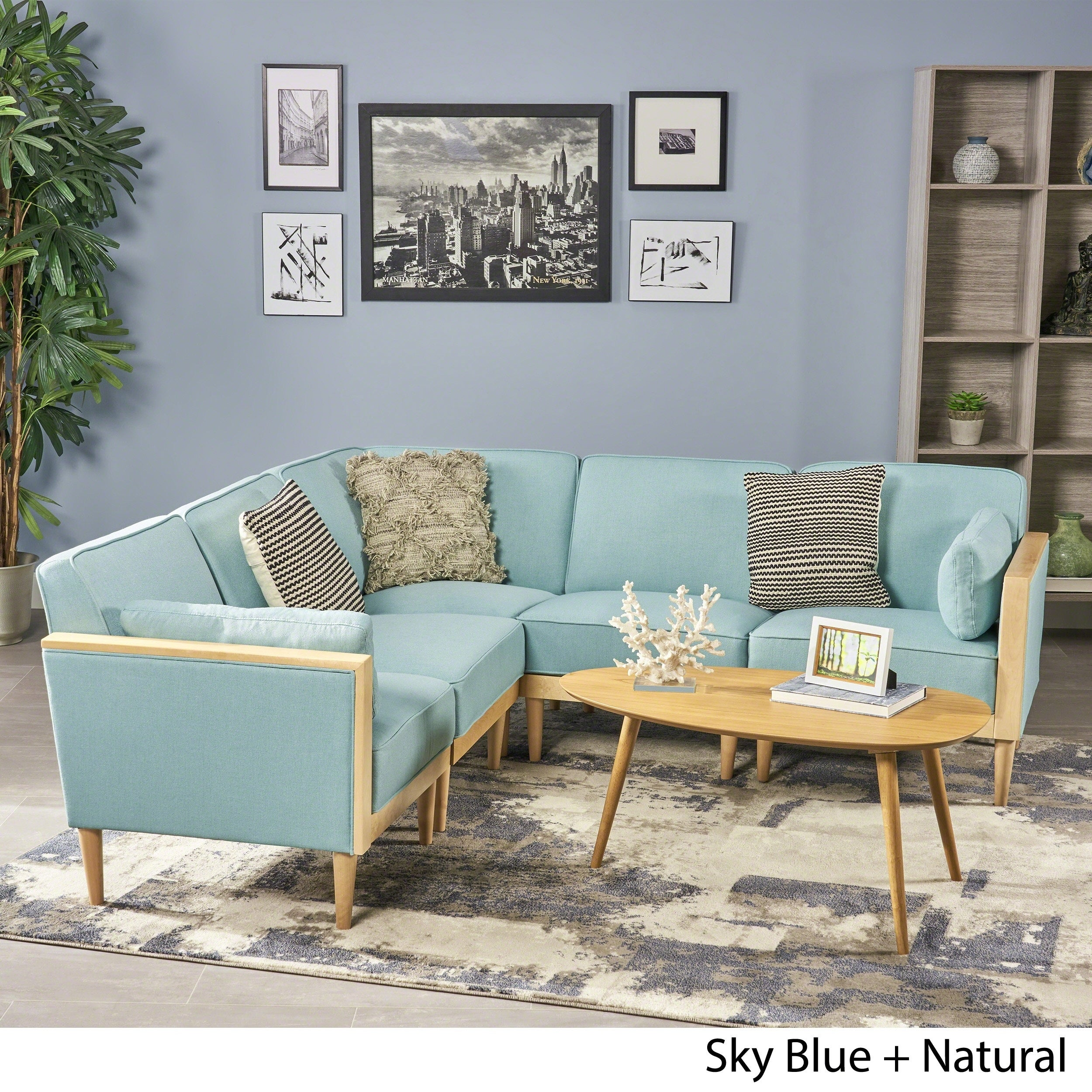 Pembroke 5-piece Contemporary Sectional Sofa Set by Christopher ...