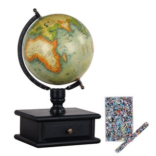 Vintage MDF Wood Storage Decorative Globe