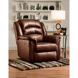 Southern Motion Max Brown Leather Power Headrest Wall Hugger Recliner