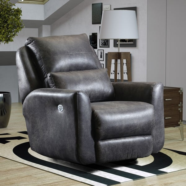 Southern Motion Producer Brown Power Wall Hugger Recliner