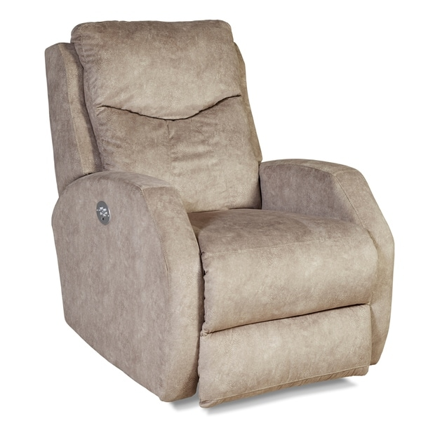 Southern Motion's Tip Top Taupe Power Headrest Wall Hugger Recliner