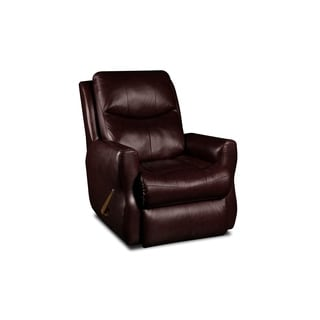 Southern Motion Fame Burgundy Leather Swivel Rocker Recliner