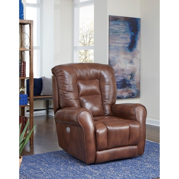 Shop Southern Motion Grand Brown Leather Power Headrest