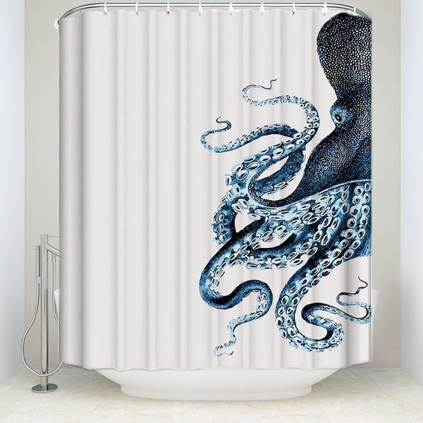 Shop Octopus Shower Curtain Waterproof Fabric Polyester Sets With