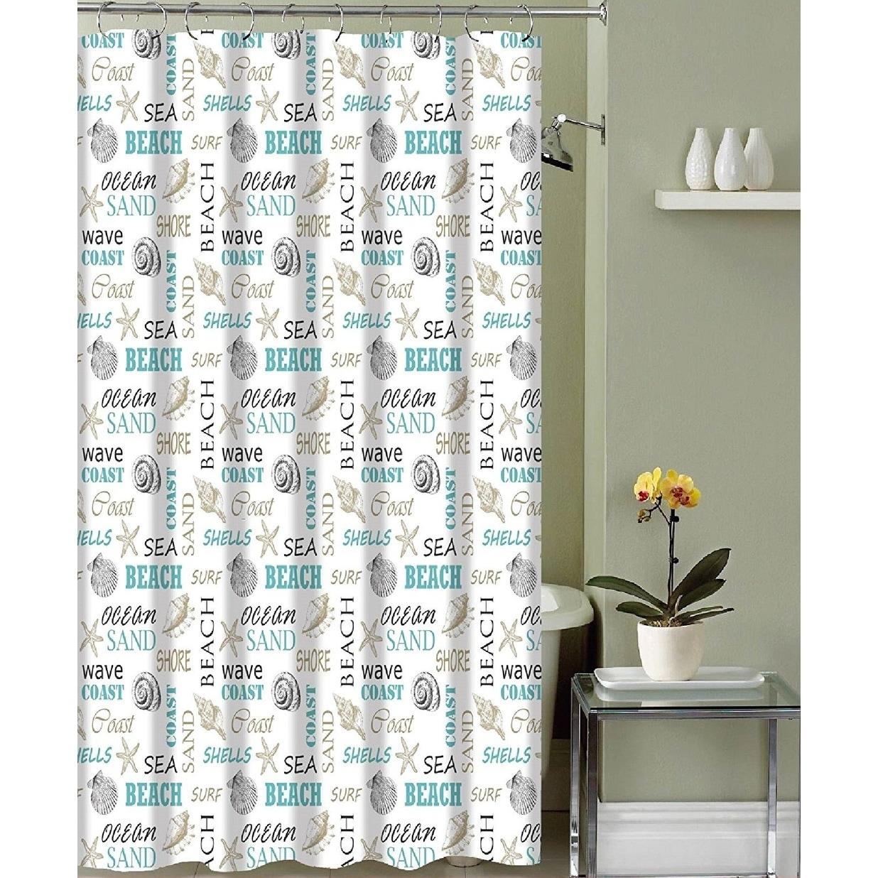 Fabric Shower Curtain Modern Decorative
