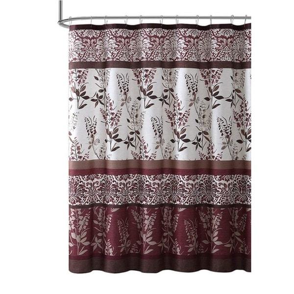 Burgundy Red Fabric Shower Curtain 72