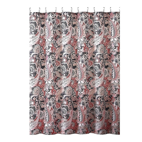 Gray Pink Taupe Fabric Shower Curtain 72 X Inch