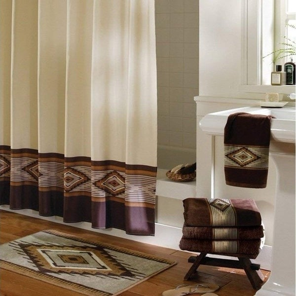 Brown Decorative Polyester Shower Curtain 72 X 78