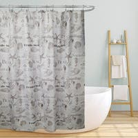 Shelley 70 in. Beach Life Inspired Design Shower Curtain