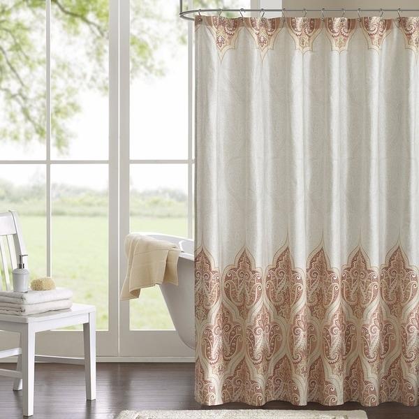 Shower Curtain Damask Print Waterproof Shower Curtain,72\