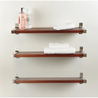3 Piece Industrial Modern Wood Wall Shelf Set