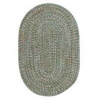 Colonial Mills Farmstand Blue/Green Tweed Seagrass Braided Area Rug - 7' x 9'