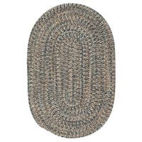 Colonial Mills Farmstand Tweed Lake Blue/Multicolor Reversible Casual Braided Area Rug - 7' x 9' Oval