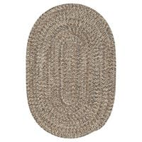 Colonial Mills Farmstand Tweed Driftwood Reversible Braided Area Rug - 7' x 9'