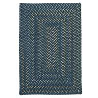 Colonial Mills Mayflower Whipped Blue/Multicolor Wool Area Rug - 7' x 9'
