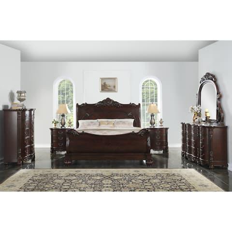 Saillans Cherry 6-piece Wood Bedroom Set