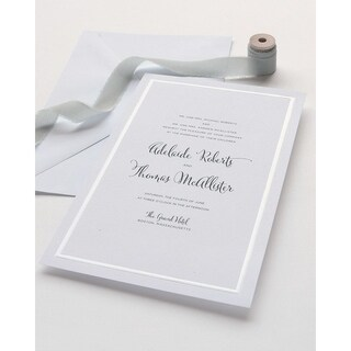 Pearl Foil Border Print at Home Invitation Kit 50 Count