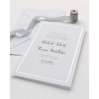 Pearl Foil Border Print at Home Invitation Kit 50 Count - Gartner Studios