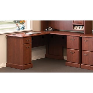 Bush Business Furniture Syndicate Collection 72W L-Desk in Cherry