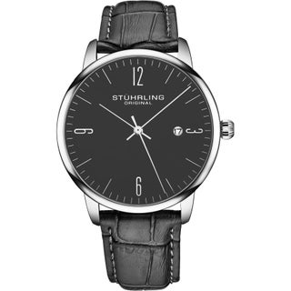 Stuhrling Original Mens Watch Calfskin Leather Strap - 3997A Collection