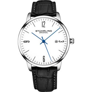 Stuhrling Original Mens Watch Calfskin Leather Strap - 3997A Collection