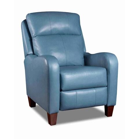 Southern Motion Prestige Hi Leg Blue Leather Recliner