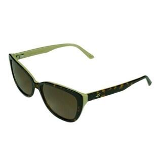 Serengeti Sophia Women's Dark Tortoise/Beige w/ Polarized Drivers Gradient Lens Sunglasses - Tortoise - Medium