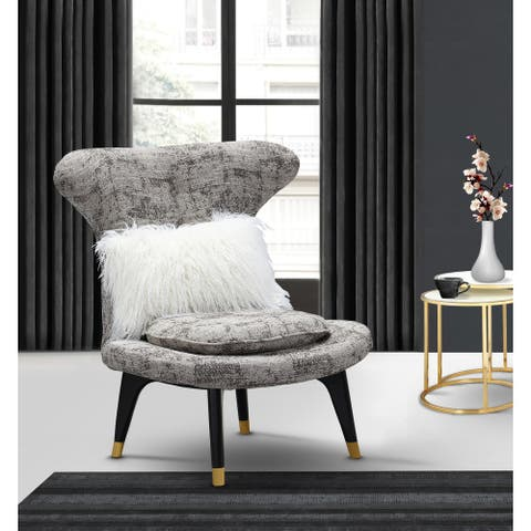 Chic Home Cheverny Accent Club Chair Two-Tone Textured Fabric