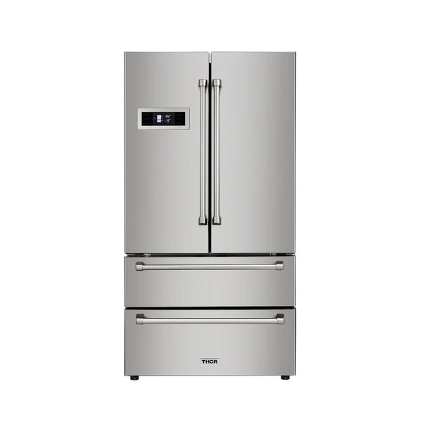 Thor Kitchen - Counter Depth 20.85 cu. ft. French Door Refrigerator in Stainless Steel
