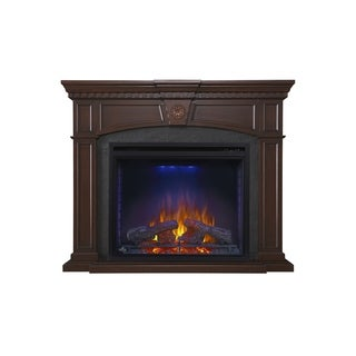 Napoleon Harlow Mahogany Mantel Package with Electric Fireplace