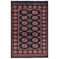 Handmade Herat Oriental Pakistani Hand-knotted Bokhara Wool Rug (2'6 x 4')