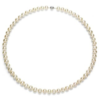 DaVonna Sterling silver 6-7 mm Freshwater Pearl Necklace, 18-inch
