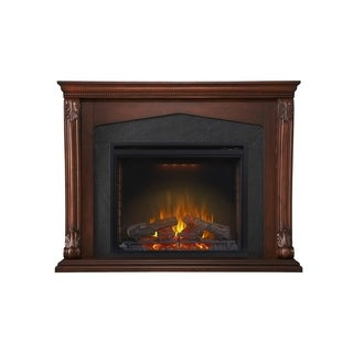 Napoleon Monroe Burnished Walnut Mantel Package with 33-inch Electric Fireplace
