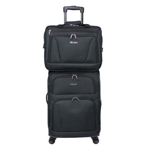 Embarque Super Lightweight 2-piece Carry On Spinner Luggage Set