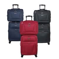World Traveler Embarque Collection Super Lightweight 2-piece Carry On Spinner Luggage Set