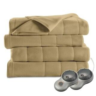 Sunbeam Heated Electric Blanket Quilted Fleece Royal Dreams King Acorn