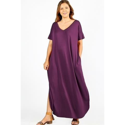 Buy Purple Women\'s Plus-Size Dresses Online at Overstock   Our Best ...