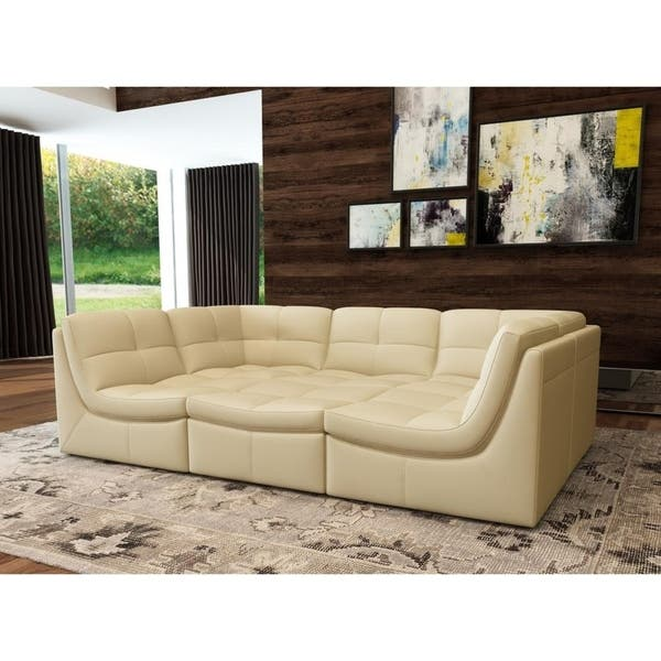 Awe Inspiring Shop Monaco Leather 6 Piece Sectional Free Shipping Today Forskolin Free Trial Chair Design Images Forskolin Free Trialorg