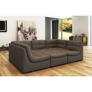 Monaco Leather 6-piece Sectional (2 options available)