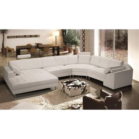 Bryson Leather 4pc Sectional