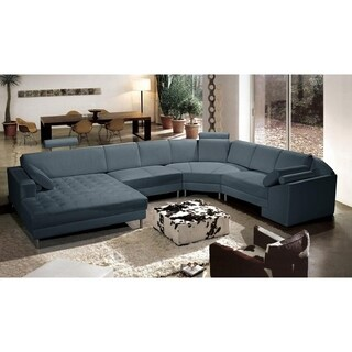 Bryson Leather 4-piece Sectional Sofa (4 options available)