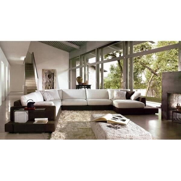 Shop Baxton Brown Microfiber 4-piece Sectional Sofa - Free Shipping ...
